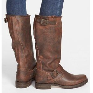 FRYE Veronica Leather Slouch Boots